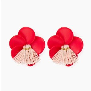Jewelry - Red Floral Earrings